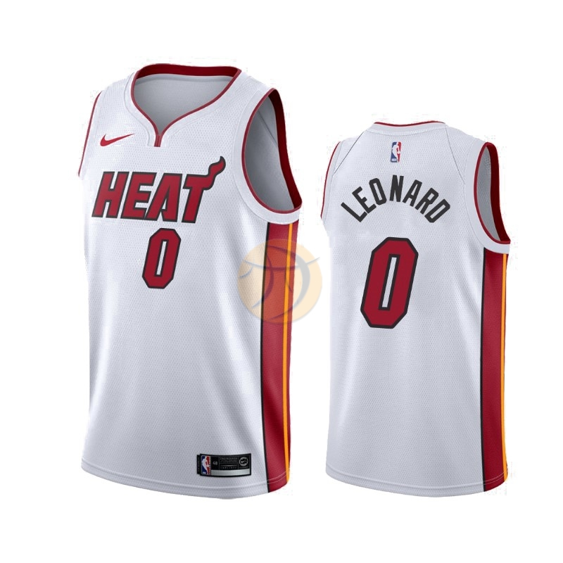 Maglia NBA Nike Miami Heat NO.0 Meyers Leonard Bianco Association 2019-20