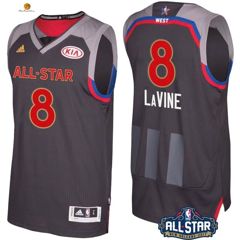 Maglia NBA 2017 All Star NO.8 Zach Lavine Carbone