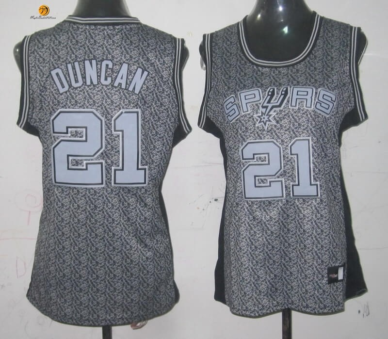 Maglia NBA Donna 2013 Fashion Statico NO.21 Tim Duncan