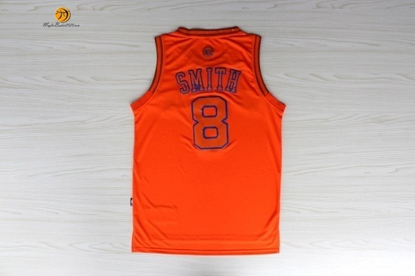 Maglia NBA New York Knicks NO.8 JR.Smith Arancia